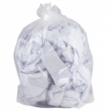 Refuse Sacks - Heavy Duty  - Clear<br>Size: 406x635mm (16x25ins)<br>Pack of 200